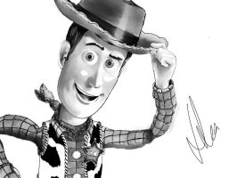 Toy Story Digital Art Woody by jonsink