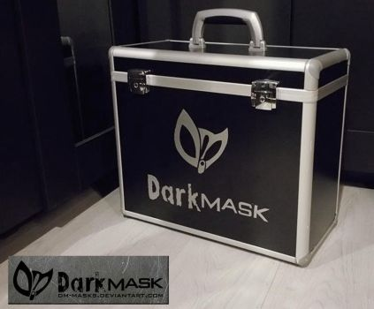 Suitcase with logo by Dm-masks