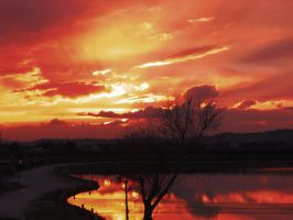Sky on fire by desmond-hume