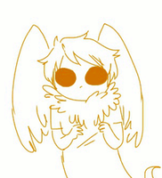 sweet, precious scared Davechick by sillyVantas