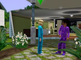 Sims 3 - Violet reluctantly accepts her challenge by Magic-Kristina-KW