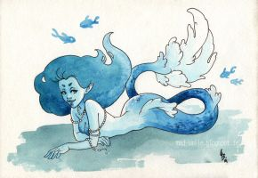 Blue Christmas Mermaid by mad-smile