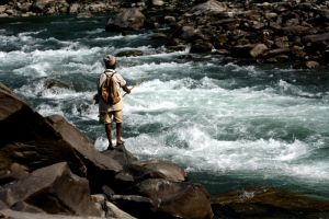 fishing in the rapids ... by punktual