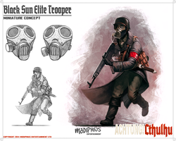 Achtung! Cthulhu - Black Sun Elite Trooper by giorgiobaroni