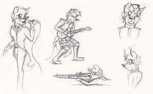 Singer and Soldier Sketches by SimonovFox