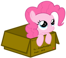 Pinkie Delivery by MisterBrony