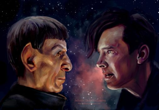 Khan and Spock by ladunya