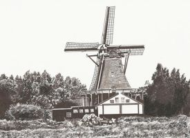 windmill by maddrawings
