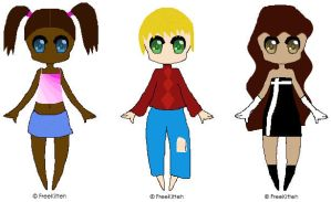 Picture Adoptables: Humanoids by Literate-Adopts