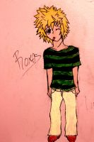 Roxas on mah wall by fizzynerd