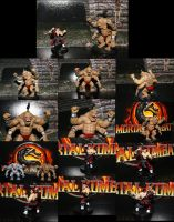 Goro and Liu Kang miniatures by DestMelkor