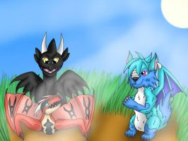 Playing Dragons by Icedragon300