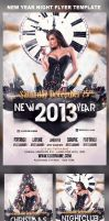 2013 New Year Christmas Party Flyer Template by mihaimcm94
