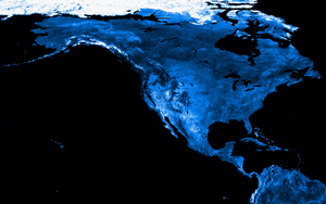 North America in Blue by k33l0r