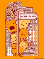 Monster Avenue Doodle by reyexzyl