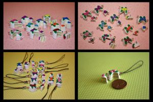 Miniature Cake Cell Charms by mayel411