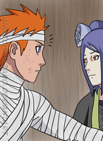 Konan and Yahiko by claudzcharizard