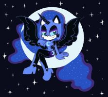 NightMare Moon Sonic Form by FarFromSerious