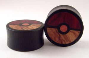 Organic Pokeball Plugs by PrimalOrganics