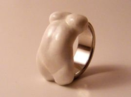 Female Abdomen Ring by crisyanthemumjewelry