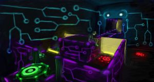 Neon Lighting and Mesh Concept by DislocatedPenguin