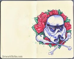 NO ROSES GROW ON A TROOPER'S GRAVE by ArtworkByGeo