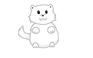 Chubby Cat by bluegumibear