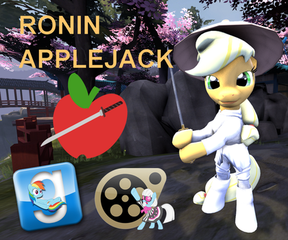 (DL) Ronin Applejack by Out-Buck-Pony