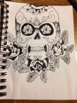 Candy Skull Outline by kiki-454
