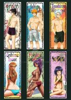 Bleach Summer Card gum - set 1 by NEKO-2006
