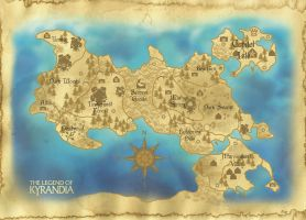Map of Kyrandia by Taleea