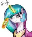 Whipped cream on Celestia's face by Dragk