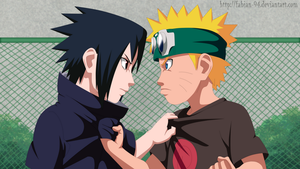 Naruto vs Sasuke [child] by FabianSM