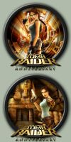 Tomb Raider: Anniversary Icons by kodiak-caine