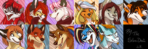 Sketchy Icon Commission: Batch 5 by SilverDeni