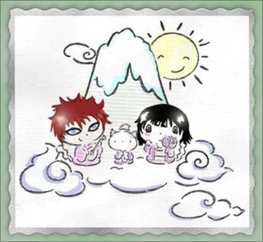 Gaara and me on the clouds by Ichijouji