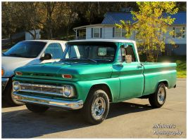 A Cool Green 1966 Chevy Truck by TheMan268
