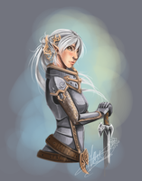 :SpeedPaint: Paladin by Rozen-Clowd