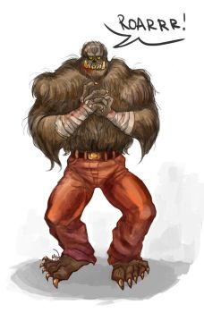Crossover Chewie/Killer Croc by MadHatters-Wife