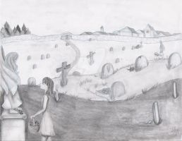 Girl in the Cemetery. by Yukiko-chan