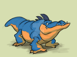 Crocodile Thing by Eligecos