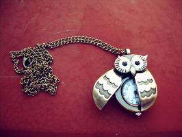 Owl watch necklace by Laura-in-china
