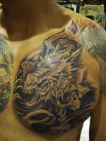 Fusion japanese style tattoo by hatefulss