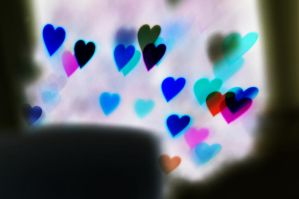 Heart Bokeh Texture 10 by LDFranklin