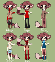 Logan outfits by LittleWhiteDragonlet