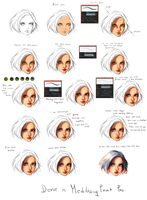 FACE - Coloring tutorial by ryky