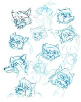 Study Sheet - Wolfy Faces by sonicolas