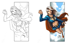 Supergirl_colored by CleverBlue