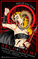 Arch Enemy Tour Poster 2010 by luvataciousskull