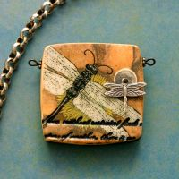 Dragonfly Pendant by katscreations